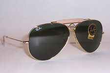 NEW RAY BAN Sunglasses AVIATOR SHOOTER 3138 001 GOLD/GREEN 58mm AUTHENTIC