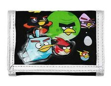 Rovio ANGRY BIRDS SPACE Black/Silver TRI-FOLD WALLET Card Case Money Holder NEW