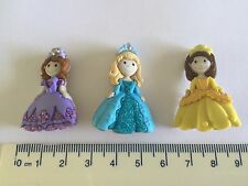 Princess dressed in yellow purple blue Novelty Buttons by Dress It Up 7708
