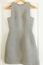 KOOKAI WOMENS DRESS DESIGNER LINED COTTON Grey BLEND WORK Party SZ 36