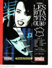 PUBLICITE ADVERTISING 056  1987  Rita Mitsouko Tour & Skyrock concert  La Cigale