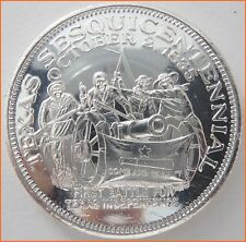 "1 oz .999 Silver ""FIRST BATTLE FOR TEXAS INDEPENDENCE"" Art Round/Bar 8105"