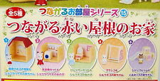Sylvanian Families Mini House Red Color Roof Top  5pcs - Epoch Gashapon  h#3