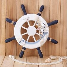 "Nautical Wooden Ship Steering Wheel Home Decor/ Wall Art 13""Diameter"