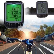 Wholesale New Waterproof Bike Bicycle Cycling LCD Computer Odometer Speedometer