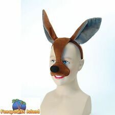 BROWN KANGAROO ANIMAL MASK WITH SOUND Unisex Fancy Dress Costume Accessory