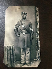 Civil War African American Union Soldier tintype #C841NP