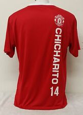 Manchester United FC Chicharito #14 Red Color Men's Short Sleeve Jersey
