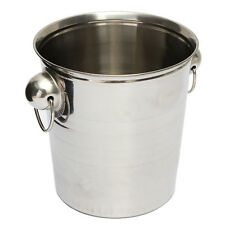 Silver Stainless Steel Ice Punch Bucket Wine Beer Cooler Champagne Party ED