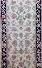 Interesting Ivory - Floral Design Rug - Oriental Indian Runner 2.5 x 9.7 ft.
