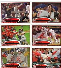 2012 Topps 1&2 Update Cardinals Team Set Molina Garcia Holliday Adams Pujols 45