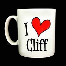 NEW I LOVE HEART CLIFF GIFT MUG CUP PRESENT MUSIC FAN RICHARD CLIFFETTE