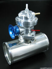 "Turbo TYPE-RS BOV Blow Off Valve Silver + 3"" OD Polished Stainless Steel Pipe"