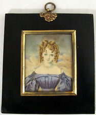1830 Miniature Portrait on Paper
