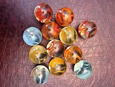 Lot of 12 Vintage Old Collectible Shooter Marbles