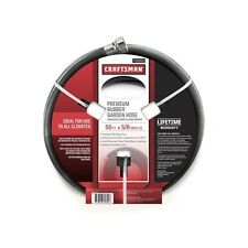 "Craftsman 5/8"" x 50' All-Rubber Garden Hose Free Shipping New"