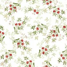 Christmas Traditions Lacy  Floral  Quilt Fabric by the 1/2 yd