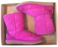 EUC Ugg Australia UGGS Youth 3 EU 33 Classic Suede Cactus Flower Purple Boots