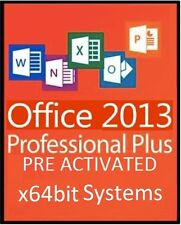 MICROSOFT OFFICE 2013 Pro Plus x64bit - WORD,POWERPOINT,EXCEL,OUTLOOK,ACCESS