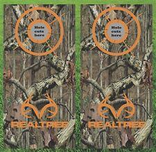 Deer Hunting Realtree Cornhole Wrap Decals Bag Toss 3M Vinyl 24x48 Fast Shipping