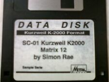 Kurzweil ~ Data Disk SC-01 MATRIX 12 ~  V.A.S.T.Native KRZ Programs!