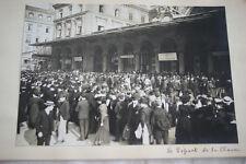 DEPART DE LA CLASSE SERVICE MILITAIRE 1910 GARE PARIS ARGENTIQUE PHOTO VINTAGE