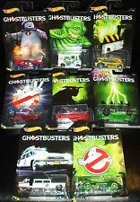 Hot Wheels GHOSTBUSTERS Complete Set of 8 Die-Cast Cars 2016 including Ecto-1 #7