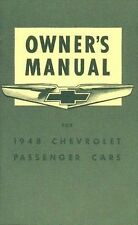 1948 CHEVROLET OWNERS MANUAL FOR GLOVE BOX  FLEETLINE DELUXE  ALL MODELS