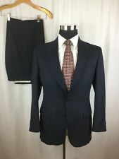 Vtg Men's Givenchy Monsieur 40S Blue Striped Suit 2 Button 40