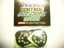 "6 dava Control ""Jazz GRIPS"" Nylon Picks Tono Giallo Hang BAG"