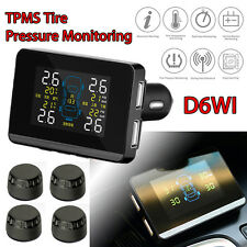 Car Wireless Tyre pressure Monitor+4 External Sensors LCD Screen Double USB Port