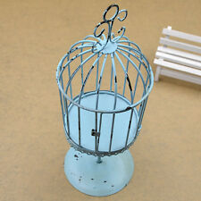 Shabby Chic Vintage Style Iron Mini Birdcage Candle Holder Home Ornament Decor