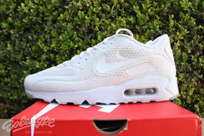 NIKE AIR MAX 90 ULRA BR SZ 9 PURE PLATINUM TOTAL CRIMSON 725222 012