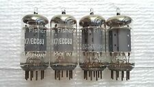 4 Fisher Telefunken 12ax7 / ECC83 Vacuum Tubes :    Bottom / Smooth Long Plates