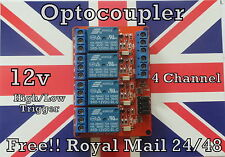 4 Channel 12v Relay Module - High or Low Level Trigger - for Arduino PIC ARM