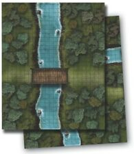 Paizo GameMastery Flip-Mat - River Crossing Used Pathfinder D&D