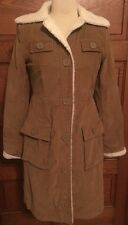 Women's American Eagle Outfitters Brown Sherpa Lined Trench Coat Size S/P EUC