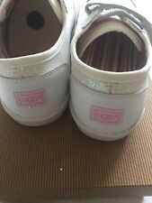 Ugg Girls Sparkly. White Trainers / Sneakers Uk 2 New Boxed Authentic