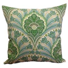 45x45cm Tommy Bahama Indoor/Outdoor Jungle Green/Ivory Crescent Cushion Cover