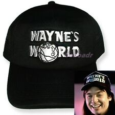Wayne's World Embroidered Replica Trucker Hat Movie Logo Mike Myers Campbell