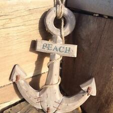 NEW Rustic WOODEN ANCHOR with Hooks 40cm high Beach Coastal Nautical Home Decor