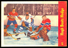 1955 56 PARKHURST HOCKEY IA 69 HUGH BEATS CHARLIE HODGE EX-NM MONTREAL CANADIENS