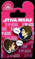 Han Solo and Leia Valentine's Day 2 Pin Set Star Wars Disney Pin 113240