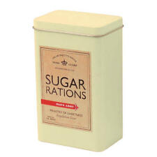 DADS ARMY SUGAR RATIONS TIN CANISTER RETRO KITCHEN STORAGE TV FILM VINTAGE WAR