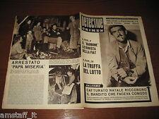 RIVISTA DETECTIVE CRIMEN=1959/42=NATALE RICCOBONO=ANGELO LAFORE'=