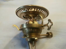 SUPERB HINKS No2 PATENT BRASS BAYONT FIT RISER DUPLEX OIL LAMP BURNER