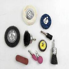 DRILL MOUNTED 10 PIECE SANDING / POLISHING SETFOR WOOD METAL PLASTIC FIBRERGLASS