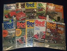 1972-1988 ROD ACTION MAGAZINE LOT 66 ISSUES - GREAT CAR PHOTOS & ADS - O 1095