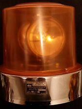 Vintage Dominion Auto Model 74-5146X Series F Amber two lamp rotating beacon