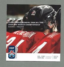 CANADA 2008 Booklet  - IIHF WORLD CHAMPIONSHIP QUEBEC  (10 x 52c) - Complete MNH